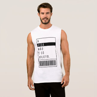 The life is not alone billet sleeveless shirt