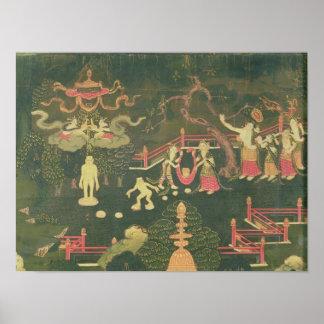 The Life of Buddha Shakyamuni Print
