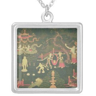 The Life of Buddha Shakyamuni Square Pendant Necklace