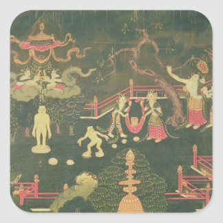 The Life of Buddha Shakyamuni Square Sticker