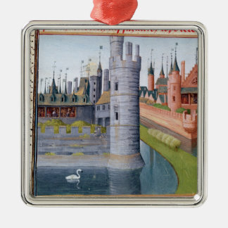 The Life of Louis II  'The Stammerer' Square Metal Christmas Ornament