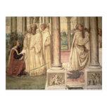 The Life of St. Benedict (fresco) (detail) 2 Postcard