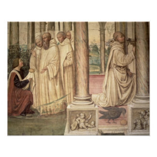 The Life of St. Benedict (fresco) (detail) 2 Poster