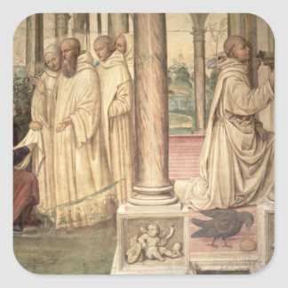 The Life of St. Benedict (fresco) (detail) 2 Square Sticker
