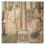 The Life of St. Benedict (fresco) (detail) 2 Ceramic Tile