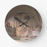 The Life of St. Benedict (fresco) (detail) 3 Round Wall Clock