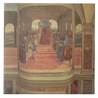 The Life of St. Benedict (fresco) (detail) Ceramic Tile