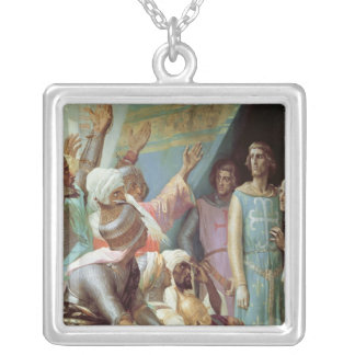 The Life of St. Louis Square Pendant Necklace