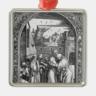 The 'Life of the Virgin' series Square Metal Christmas Ornament