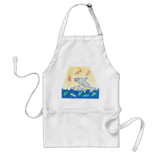 The Life Saver Dolphins Adult Apron