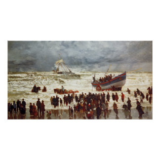 The Lifeboat, 1873 Poster