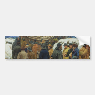 The Lifeboat is Taken through the Dunes by Ancher Car Bumper Sticker