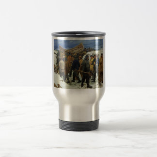 The Lifeboat is Taken through the Dunes by Ancher Travel Mug