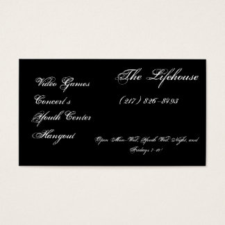 The Lifehouse, Video Games, Concert's, Youth Ce... Business Card