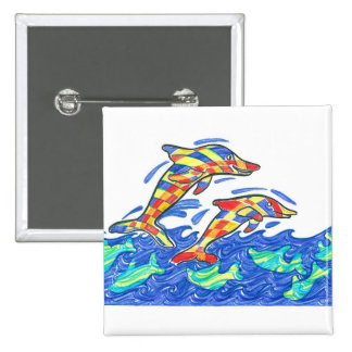 The Lifesaver Rainbow Dolphins Pin