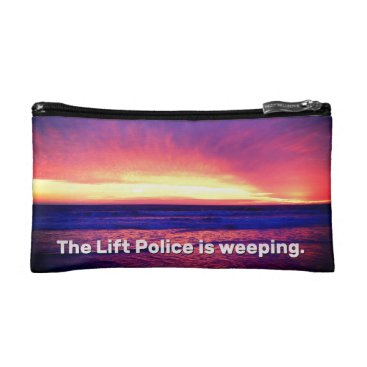 Beach Themed The Lift Police Is Weeping Cosmetic Bag