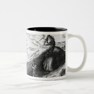 The Lifted Stone, illustration from Two-Tone Coffee Mug