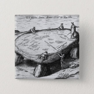 The Lifted Stone, illustration from Pinback Button