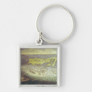 The Lifting of the Siege of the Ile de Re Silver-Colored Square Keychain