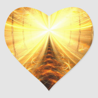 The Light at the End of the Tunnel Heart Sticker