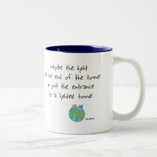 the light at the end of the tunnel Two-Tone coffee mug