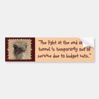 """The Light at the End, """"The light at the end of ... Bumper Sticker"""