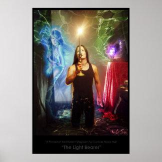 """The Light Bearer""- a portrait of the Modern Magic Poster"