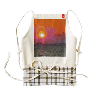 The light beckons you zazzle HEART apron