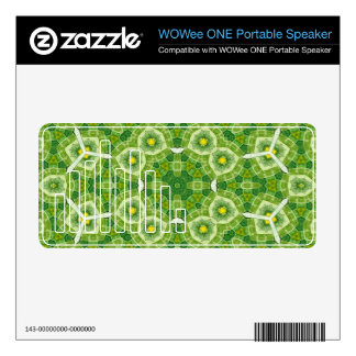The Light Green multicolored Pattern Skin For WOWee Speaker