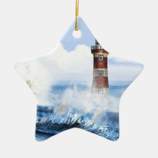 THE LIGHT HOUSE TOWER FINISHED. CERAMIC ORNAMENT