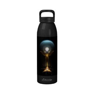 The Light Of Hope On Golden Wings Water Bottle