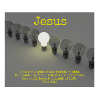 The Light of Jesus Poster