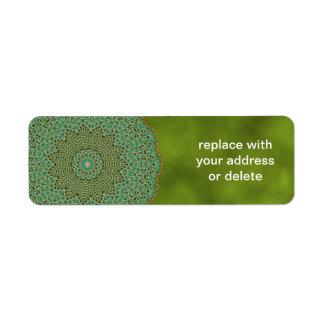 The Light of Star, Mandala Return Address Label