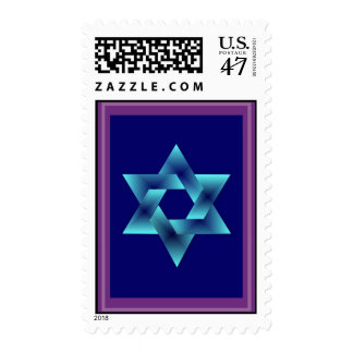 The Light of The star of david postage stamp