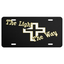 The Light the Way (black) License Plate