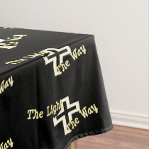 The Light the Way black Tablecloth