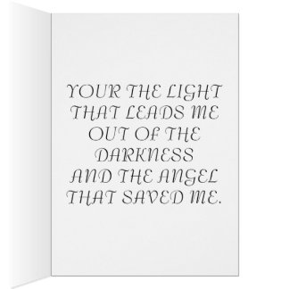 THE LIGHT THROUGH THE DARKNESS CARD