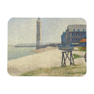 The Lighthouse at Honfleur, 1886 (oil on canvas) Magnet