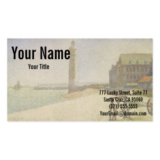 The Lighthouse at Honfleur by Georges Seurat Double-Sided Standard Business Cards (Pack Of 100)