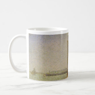 The Lighthouse at Honfleur by Georges Seurat Coffee Mug