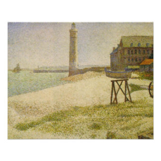 The Lighthouse at Honfleur by Georges Seurat Custom Flyer