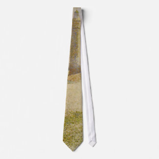 The Lighthouse at Honfleur by Georges Seurat Neck Tie
