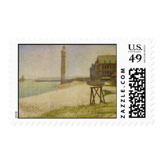 The Lighthouse at Honfleur Postage Stamp