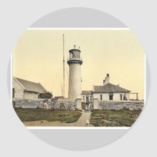 The lighthouse, Helgoland, Germany magnificent Pho Round Sticker