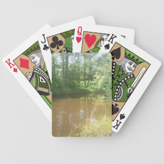 The lighthouse ice small river about the summer bicycle playing cards