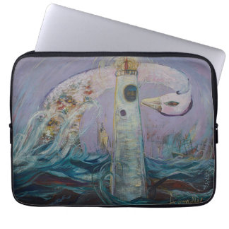 The Lighthouse Keeper and the Swan #1 Computer Sleeve