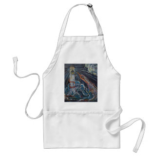 The Lighthouse Keeper and the Swan #2 Adult Apron