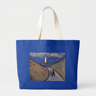 THE LIGHTHOUSE LARGE TOTE BAG
