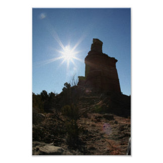 The Lighthouse Rock Formation in Palo Dura Canyon Poster