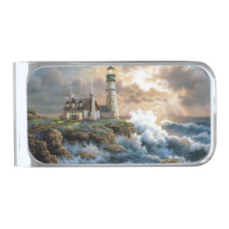 The Lighthouse Silver Finish Money Clip